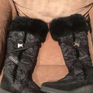 Coach Fur Black Mackenzie 8 Boots